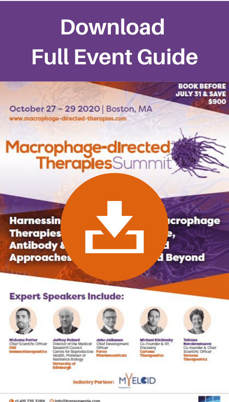Macrophage directed therapies summit - full event guide