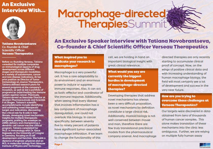 Verseau Therapeutics Interview